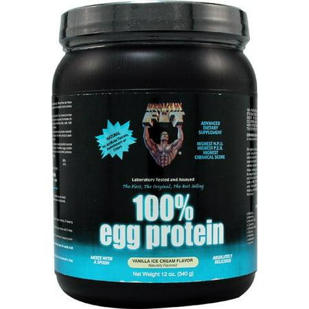 Healthy'N Fit Nutrición 100% de proteína de huevo helado de vainilla 12 onzas