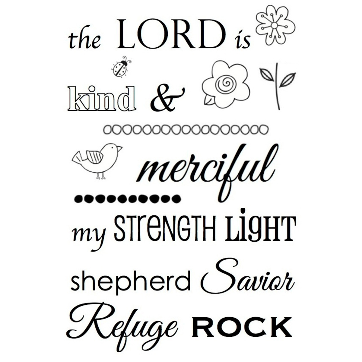 "SRM Bible Journaling Clear Stamps 4""X6""-The Lord Is"