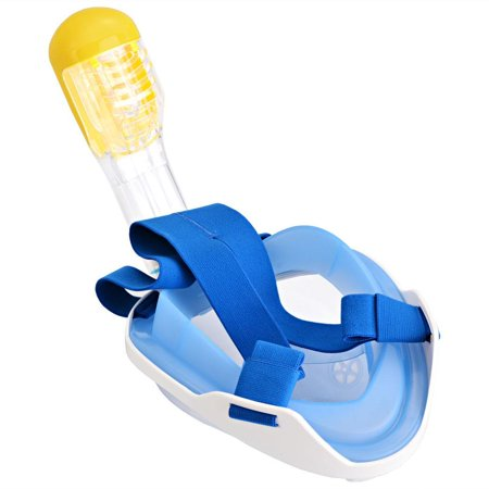 Hifashion 180  Full Face Snorkel Mask Anti Fog Anti Leak Swimming Diving Mask With Adjustable Head Straps   Longer Snorkeling Tube Hfon
