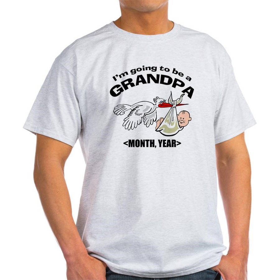 Cafepress Personalized Funny Grandpa To Be Light T-Shirt