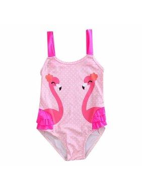 48c447006f Product Image Summer Kids Baby Girls Flamingo Bikini Swimwear Swimsuit  Bathing Suit Beachwear