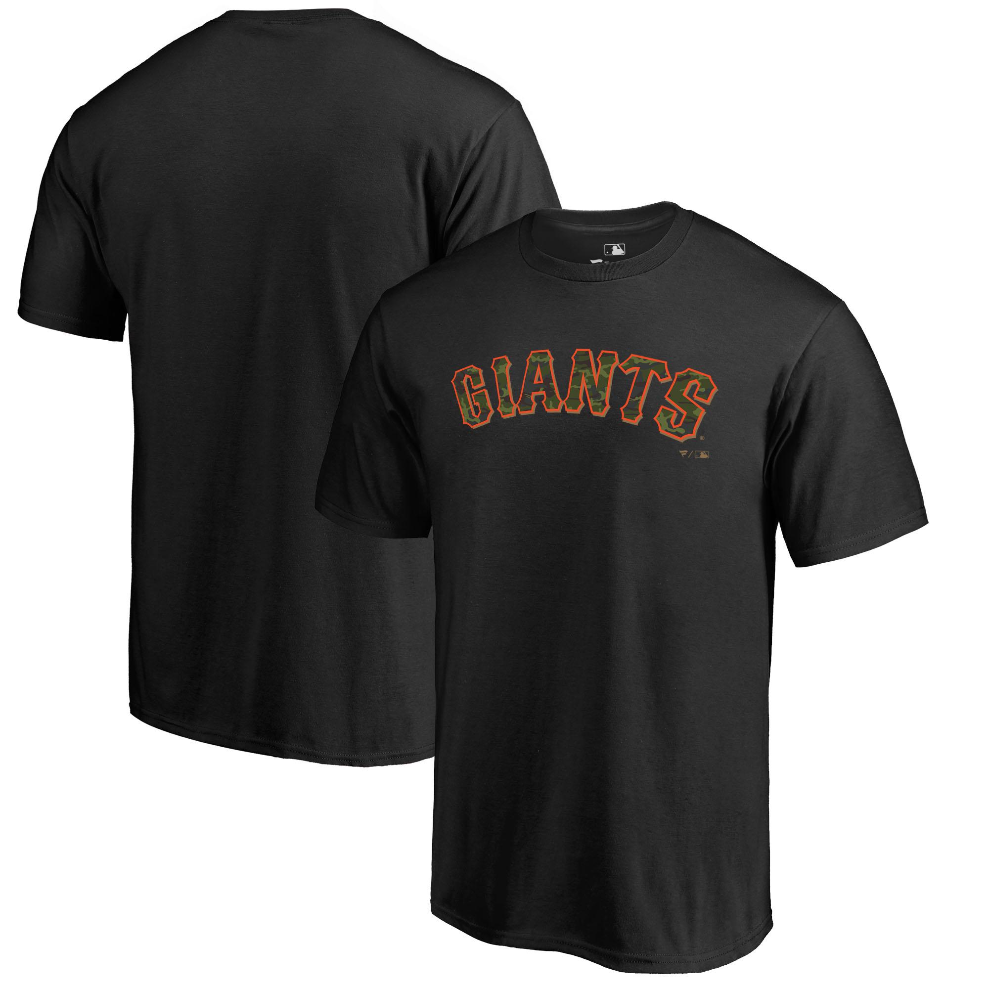 San Francisco Giants Fanatics Branded 2018 Memorial Day Wordmark T-Shirt - Black