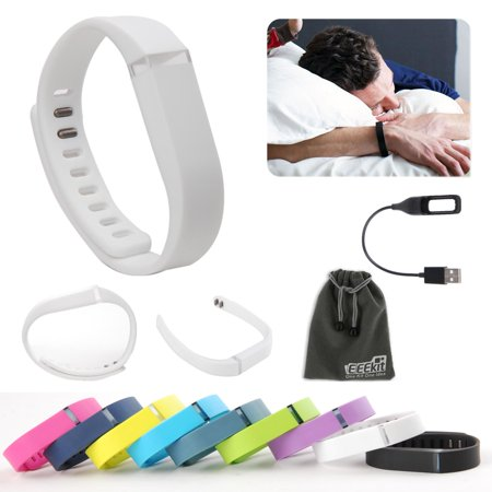TSV for Fitbit Flex Wireless Activity Sleep Wristband, Replacement Wrist Band Clasp, USB Charger Charging
