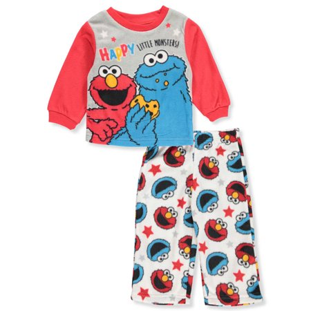 Sesame Street Baby Boys' 2-Piece Pajamas Featuring Elmo and Cookie Monster