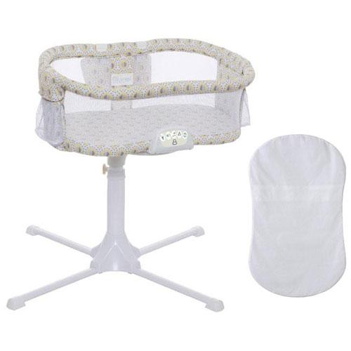 Halo Swivel Sleeper Bassinet Luxe Series Lemondrop with 100 Cotton Fitted by HALO