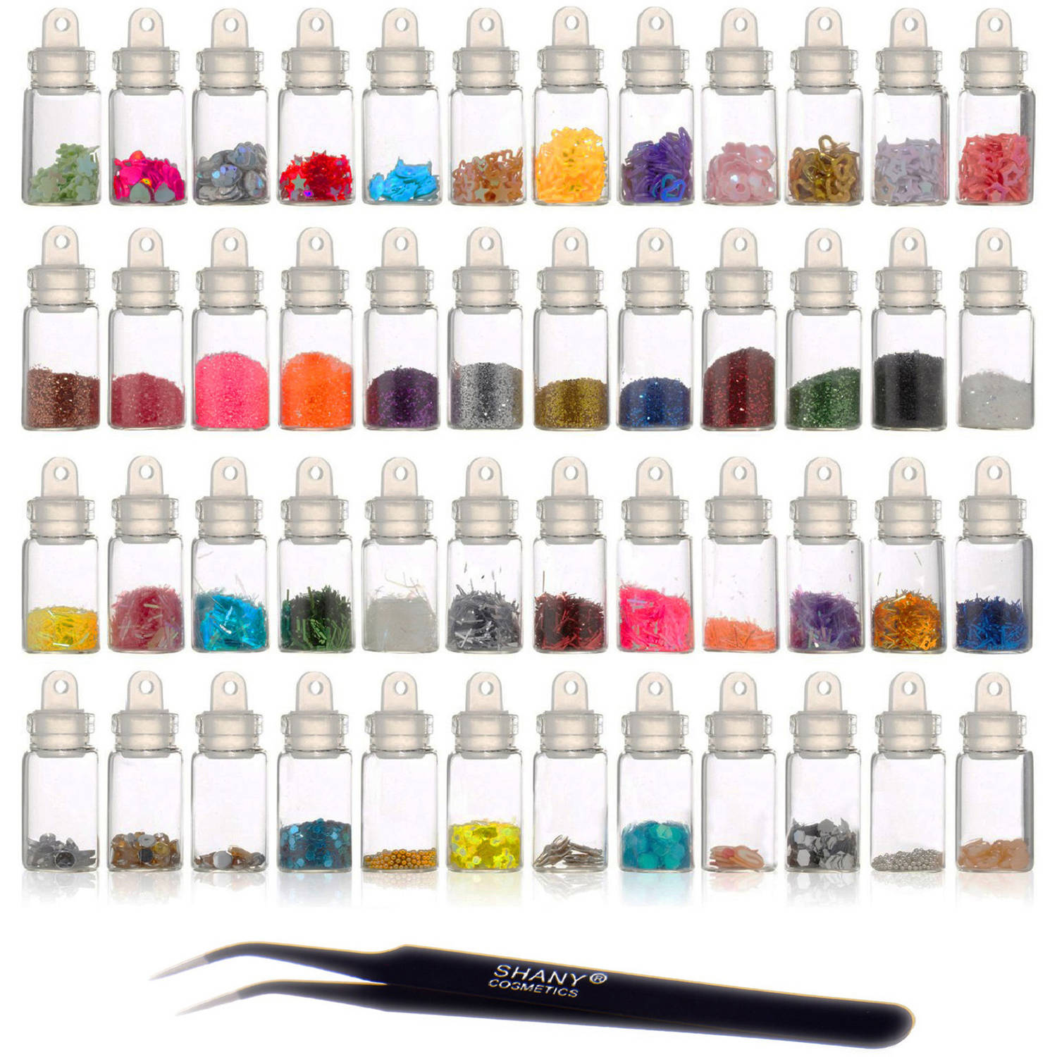 SHANY 3D Nail Art Decoration Mini Bottle Set, 49 pc - Walmart.com