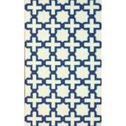 Nuloom  Handmade Marrakesh Trellis Abstract Ivory Wool Rug (5' x 8')
