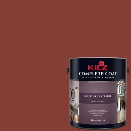 KILZ COMPLETE COAT Interior/Exterior Paint & Primer in One, #LB100-02 Raw (Best Paint For Clay)