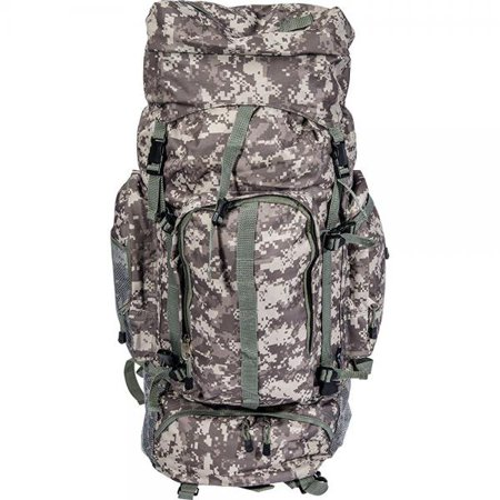Camouflage Rolling Backpack - Extreme Pak™ Digital Camo Water-Resistant, Heavy-Duty Mountaineer' s Backpack