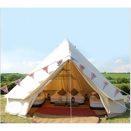 Outdoor Luxury Canvas Camping Bell Tent Survival Hunting Glamping 16FT(5M) NEW (Glamping Gear)