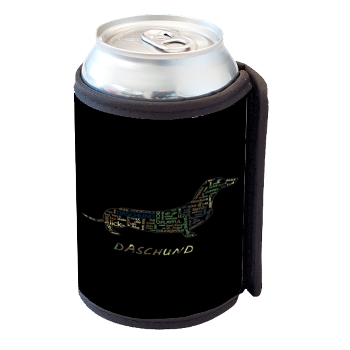 KuzmarK Insulated Drink Can Cooler Hugger - Daschund Camouflage