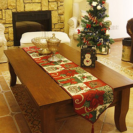 Decorative Table Runner , Flower Cotton Soft Table Runner Cloth Home Wedding Party (Cotton Table Runner Cloth)