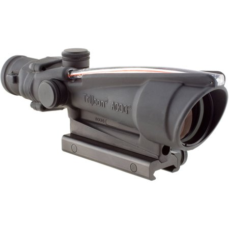 Trijicon ACOG Rifle Scope, 3.5X35, Red Chevron Reticle .223, Includes Flattop Mount, Matte