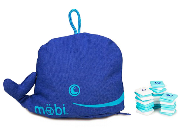 Mobi The Numerical Tile Game in a Whale Pouch by Möbi