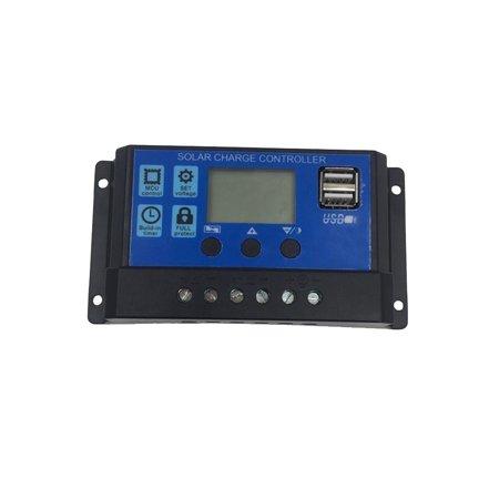 20A 12V/ 24V Solar Charge Controller Generator for Home Solar Panel Battery Intelligent Regulator with USB Ports Backlight (Best Solar Panel To Charge 12v Battery)