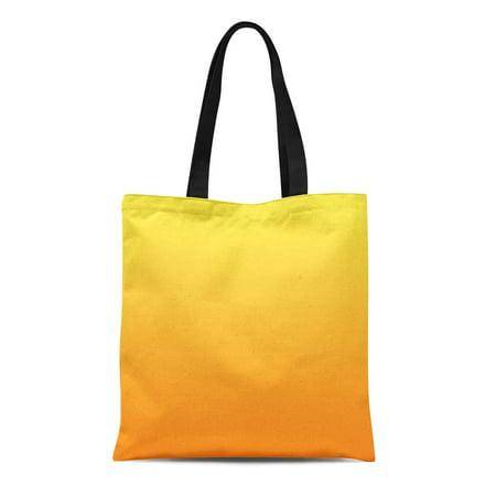 LADDKE Canvas Tote Bag Patio Yellow and Orange Chair Custom Homedecor Accessories Outside Reusable Handbag Shoulder Grocery Shopping (Custom Bag Chairs)
