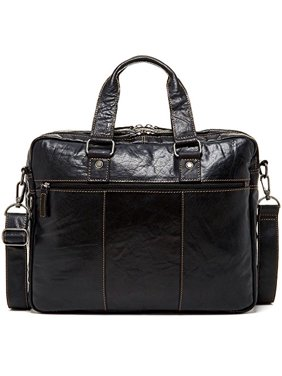 0dbceeaefc5d Product Image Jack Georges Voyager Large Travel Leather Laptop Briefcase in  Black
