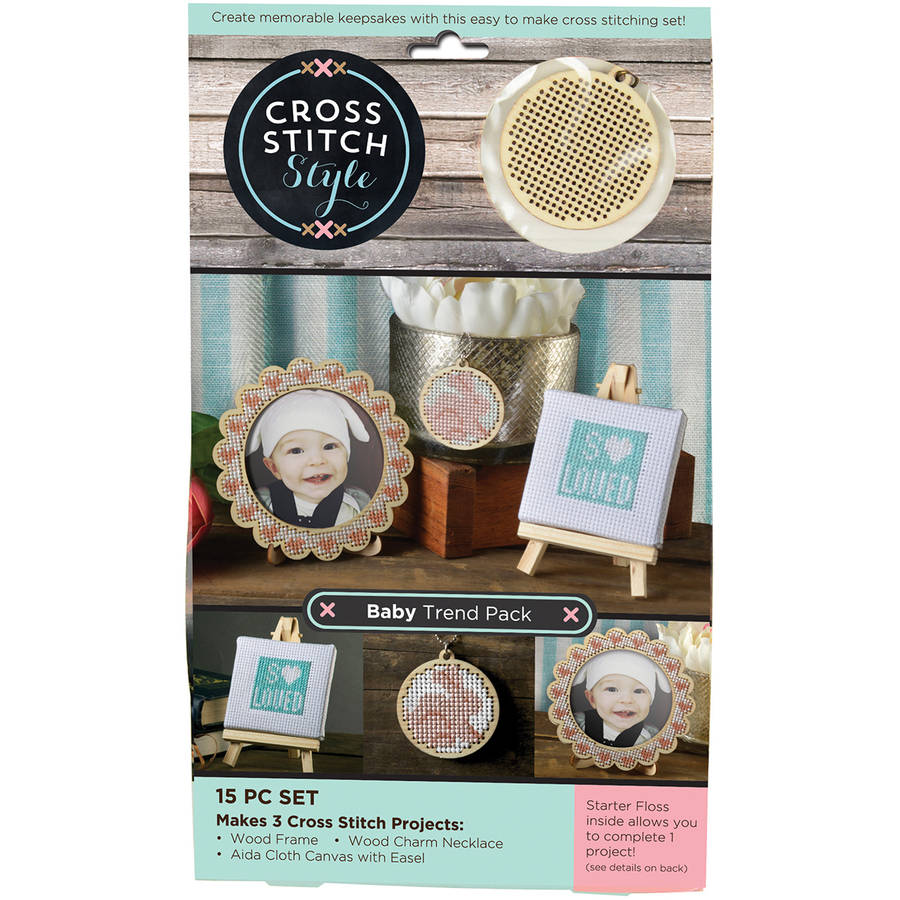 Wood Baby Trend Pack Punched For Cross Stitch Kit