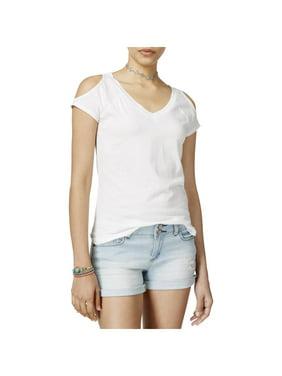 b0404647723ee Product Image Derek Heart Womens Juniors Jersey Cold Shoulder T-Shirt