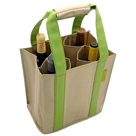 Vina 2-Bottle Wine Picnic Tote Carrier Travel Cooler ... |Aluminum Wine Bottle Totes