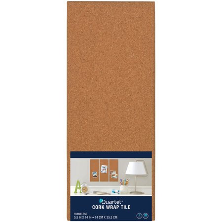 "Quartet Cork Bulletin Board Tile 5.5""X14""-Brown, Modular - image 1 de 1"