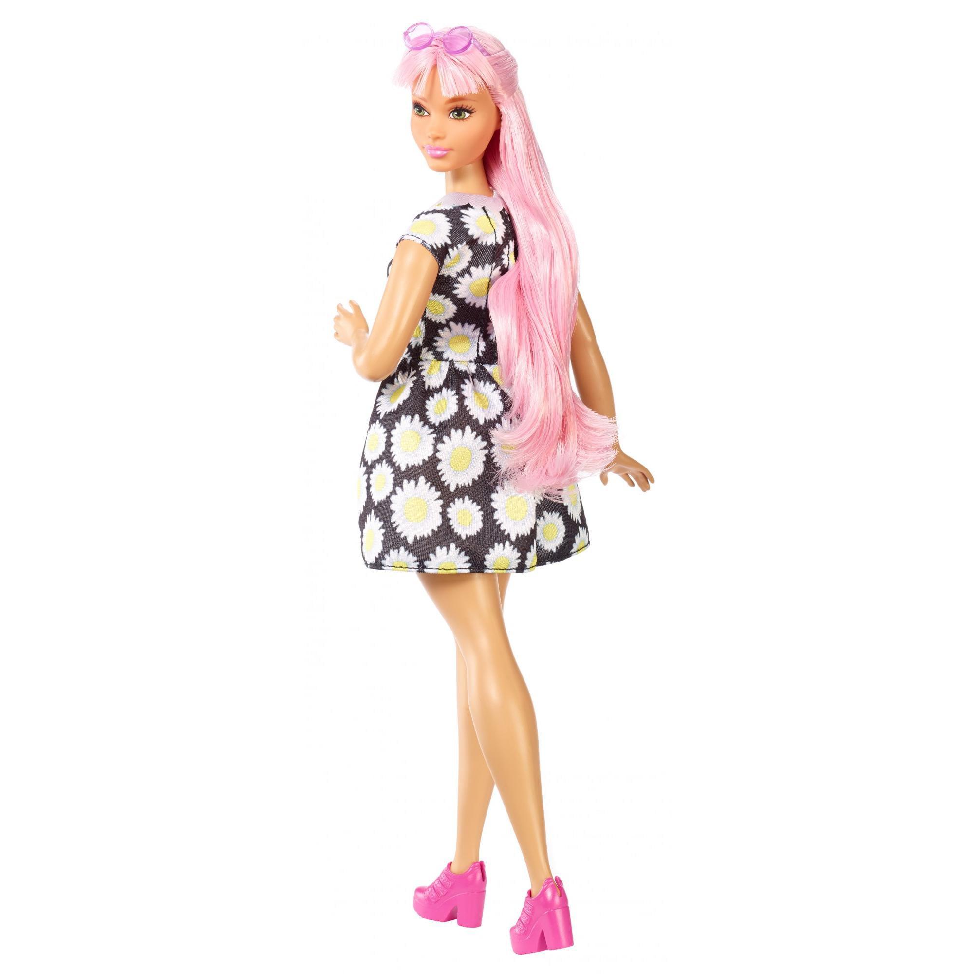 Barbie Fashionistas Doll Daisy Pop, Curvy Body, Pink Hair - Walmart.com