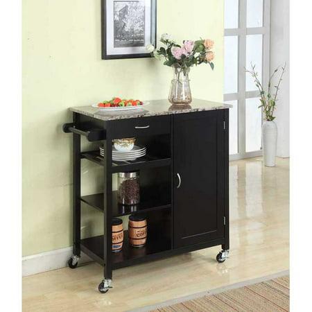 K & B Furniture Y05 Kitchen Island Cart ()