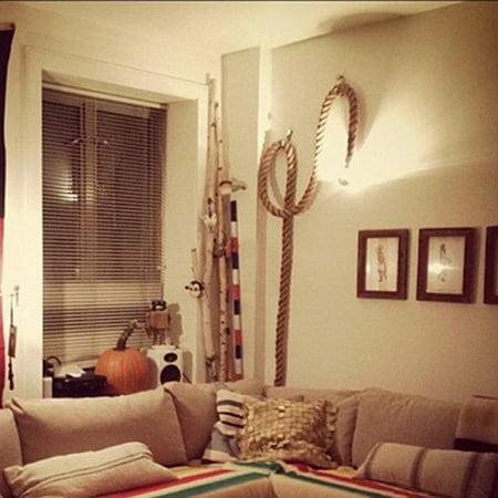 Vintage Rustic Hemp Rope Ceiling Chandelier Creative Pendant Lamp Hanging Lights for Living Room Bar Public Places Decor ()