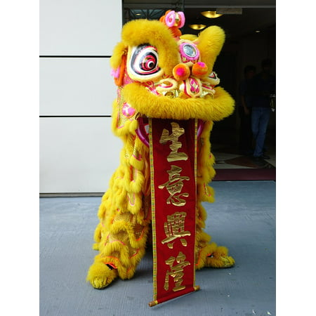 Canvas Print Chinese Dancing Luck New Year Tradition Lion Dance Stretched Canvas 10 x (Best Chinese Lion Dance)