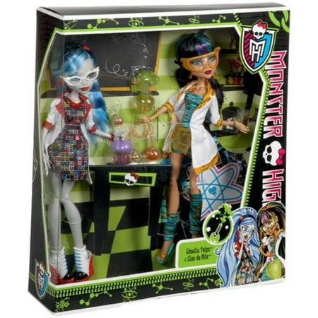 Monster High Mad Science Cleo de Nile and Ghoulia Yelps Dolls - Cleo De Nile Makeup