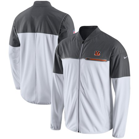 Cincinnati Bengals Nike Champ Drive Flash Hybrid Full-Zip Jacket - White/Gray