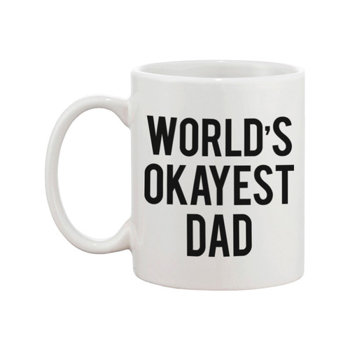 365 Printing Inc World's Okayest Dad Coffee Mug