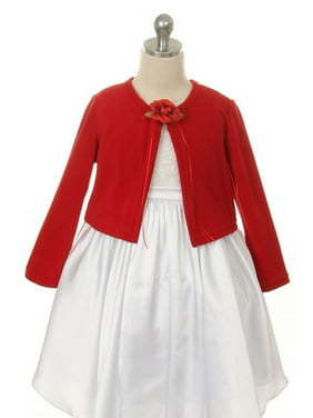 Red Flower Special Occasion Cardigan Sweater Girls 10