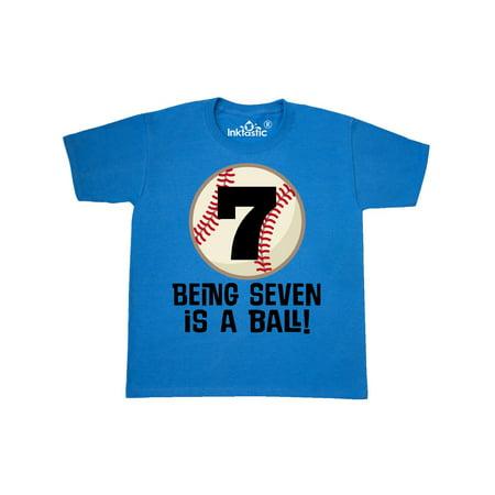 7th Birthday Baseball 7 Year Old Boy Youth T Shirt