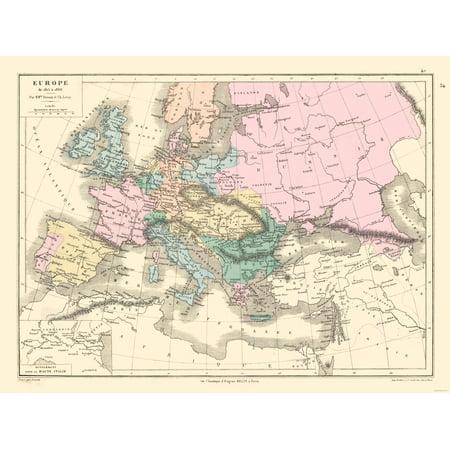 International Map - Europe 1815-1866 - Drioux 1882 - 30.66 x 23