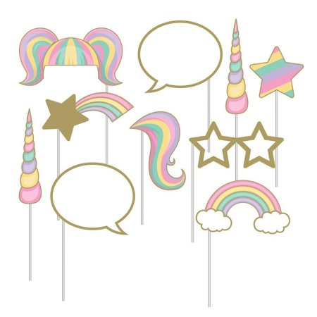 Creative Converting Sparkle Unicorn Photo Booth Props, 10 ct](Creative Photo Props)