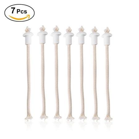 7Pcs Oil Lantern Wick Heat-Resistant Kerosene Wick for Ceramic Holders Torch Wine Bottle Oil Candle Lamp Fiber Glass](Lantern Holder)