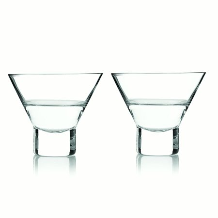 Viski Raye Stemless Martini Glasses Set (Set of 2) - Martini Glasses