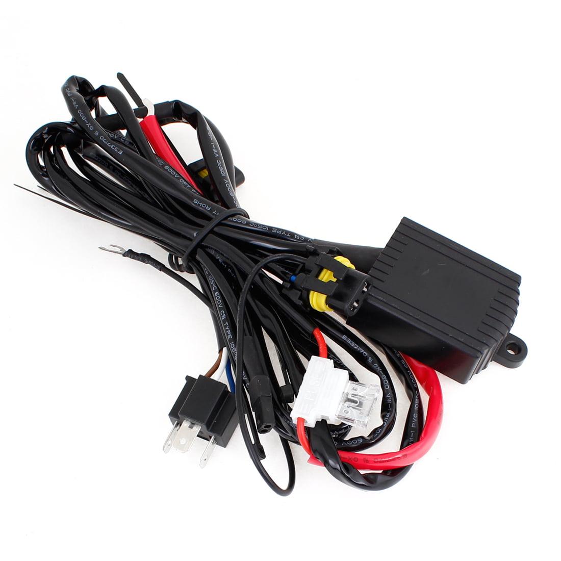 Unique Bargains Automobile Car H4 Hi Lo Bi Xenon Light Wiring Harness Controller Fuse Relay