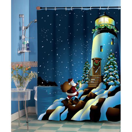 The Holiday Aisle Lighthouse Shower Curtain