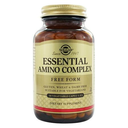 Amino 90 Tabs (Solgar - Essential Amino Acid Complex Free Form - 90 Vegetarian Capsules )