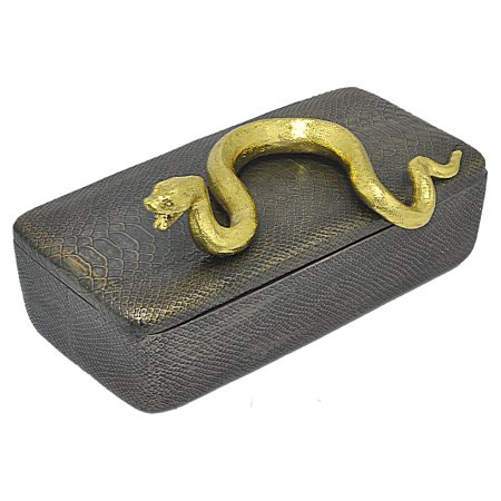 three hands resin box with gold snake detail black walmart com