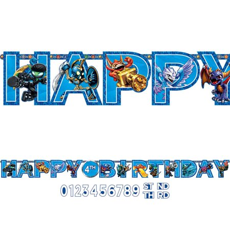 Skylanders 10 1/2ft. Add-An-Age Letter Banner (Each) - Party Supplies - Skylanders Birthday Party