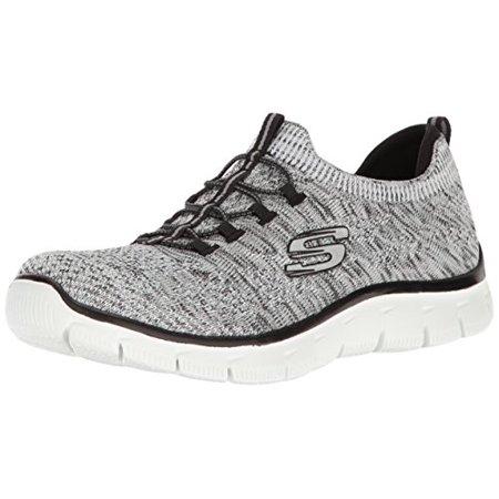 official photos 36cab 8c24c Skechers - Skechers Sport Women s Empire Sharp Thinking Fashion Sneaker,  White Black - Walmart.com