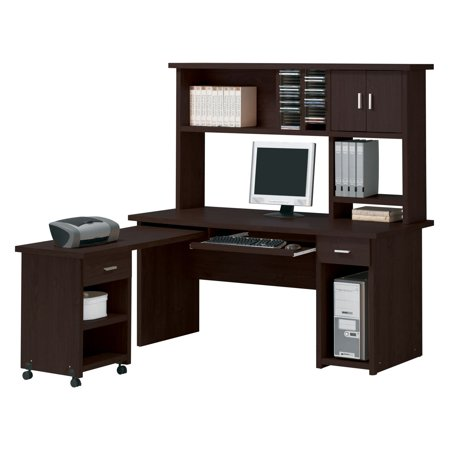 Acme Linda Wide Computer Desk, Espresso (Box 1 of 3)