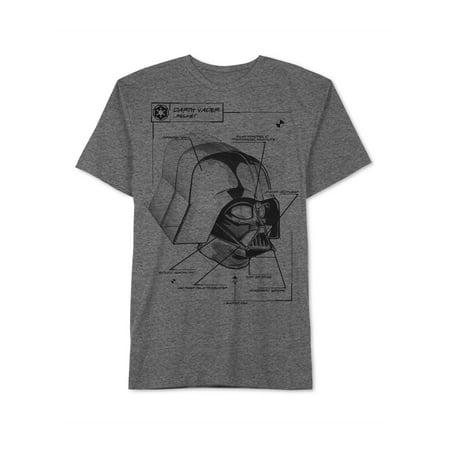 - Jem Mens Darth Vader Blueprint Graphic T-Shirt