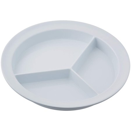 Partitioned Scoop Dish, Melamine Plate with Dividers for Kids, Elderly, and Disabled, Divided Sections for Portion Control and Easy Scooping Walls for.., By Sammons Preston (Partitioned Scoop Plate)