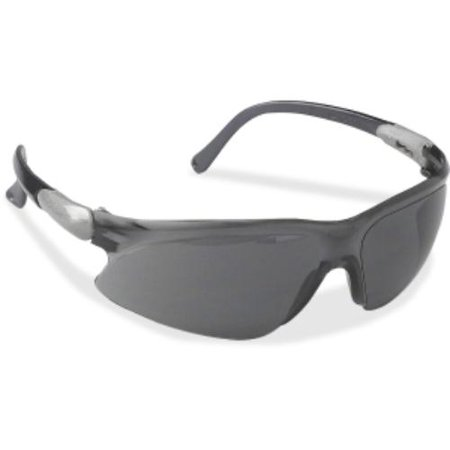 Jackson Safety V20 Visio Safety Eyewear - Polycarbonate Lens - 1each - Smoke, Black (jak-14472)
