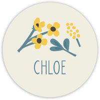 Thankful Florist - Personalized 1.75 Circle Seal Sticker