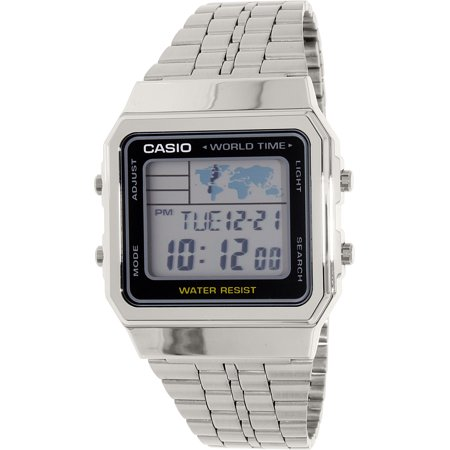 Casio Men's World Time Watch, Silver Bracelet